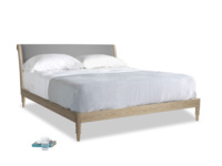 Superking Darcy Bed in Gun Metal brushed cotton