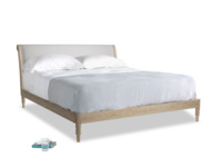 Superking Darcy Bed in Flint brushed cotton