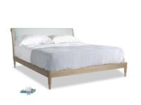 Superking Darcy Bed in Duck Egg vintage linen
