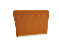 Double Smoke Headboard in Spiced Orange clever velvet