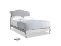 Double Coco Bed in Scuffed Grey in Dove grey wool