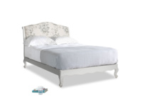 Double Coco Bed in Scuffed Grey in Dusty Blue vintage rose