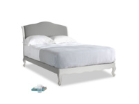 Double Coco Bed in Scuffed Grey in French Grey brushed cotton