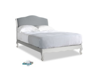 Double Coco Bed in Scuffed Grey in Dusk vintage linen