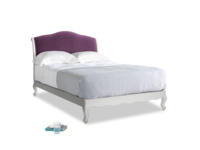 Double Coco Bed in Scuffed Grey in Grape clever velvet