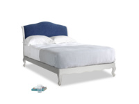 Double Coco Bed in Scuffed Grey in Ink Blue wool
