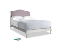 Double Coco Bed in Scuffed Grey in Lavender brushed cotton