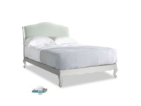 Double Coco Bed in Scuffed Grey in Mint clever velvet