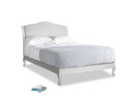 Double Coco Bed in Scuffed Grey in Mist cotton mix