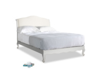 Double Coco Bed in Scuffed Grey in Oat brushed cotton
