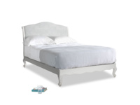 Double Coco Bed in Scuffed Grey in Pebble vintage linen