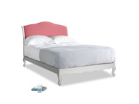 Double Coco Bed in Scuffed Grey in Raspberry brushed cotton