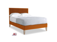 Double Piper Bed in Spiced Orange clever velvet