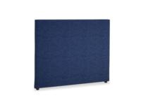 Double Piper Headboard in Ink Blue wool