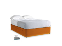 Double Tight Space Storage Bed in Spiced Orange clever velvet