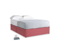 Double Tight Space Storage Bed in Raspberry brushed cotton