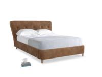 Double Smoke Bed in Walnut beaten leather