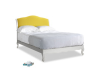 Double Coco Bed in Scuffed Grey in Bumblebee clever velvet
