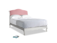 Double Coco Bed in Scuffed Grey in Dusty Rose clever velvet