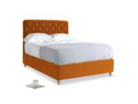 Double Billow Bed in Spiced Orange clever velvet