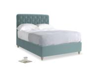 Double Billow Bed in Lagoon clever velvet