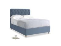 Double Billow Bed in Winter Sky clever velvet