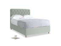 Double Billow Bed in Mint clever velvet