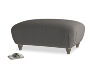 Rectangle Homebody Footstool in Old Charcoal brushed cotton