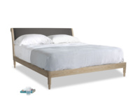 Superking Darcy Bed in Old Charcoal brushed cotton