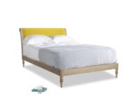 Double Darcy Bed in Bumblebee clever velvet