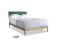 Double Darcy Bed in Real Teal clever velvet