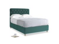 Double Billow Bed in Real Teal clever velvet