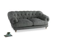 Medium Bagsie Sofa in Faded Charcoal beaten leather