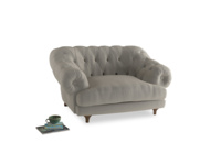 Bagsie Love Seat in Smoky Grey clever velvet