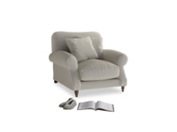 Crumpet Armchair in Smoky Grey clever velvet