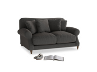 Small Crumpet Sofa in Old Charcoal brushed cotton