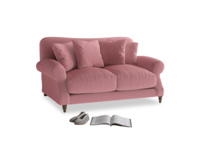 Small Crumpet Sofa in Dusty Rose clever velvet