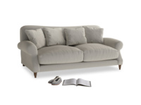 Medium Crumpet Sofa in Smoky Grey clever velvet