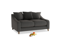 Small Oscar Sofa in Old Charcoal brushed cotton