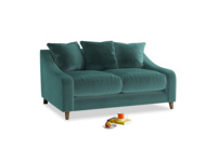 Small Oscar Sofa in Real Teal clever velvet