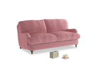 Small Jonesy Sofa in Dusty Rose clever velvet