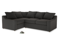 Large Left Hand Cloud Corner Sofa in Old Charcoal brushed cotton