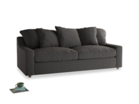 Large Cloud Sofa in Old Charcoal brushed cotton