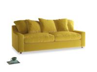 Large Cloud Sofa in Bumblebee clever velvet