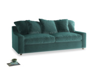 Large Cloud Sofa in Real Teal clever velvet