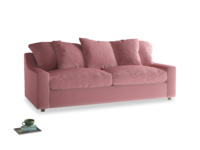 Large Cloud Sofa in Dusty Rose clever velvet