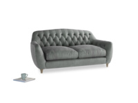 Medium Butterbump Sofa in Faded Charcoal beaten leather