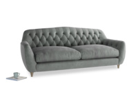 Large Butterbump Sofa in Faded Charcoal beaten leather