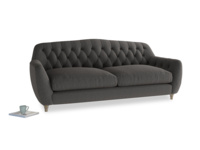 Large Butterbump Sofa in Old Charcoal brushed cotton