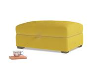 Bumper Storage Footstool in Bumblebee clever velvet